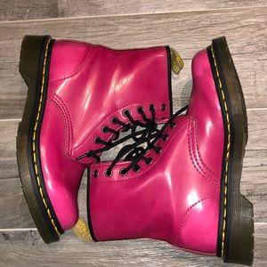 Hot pink VEGAN Dr. Martens 1460 boot